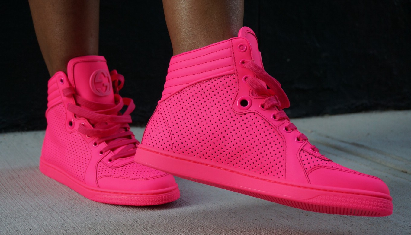 pink gucci shoes